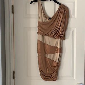 Bebe size small gold short dress